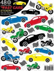 Fast Cars Stickers