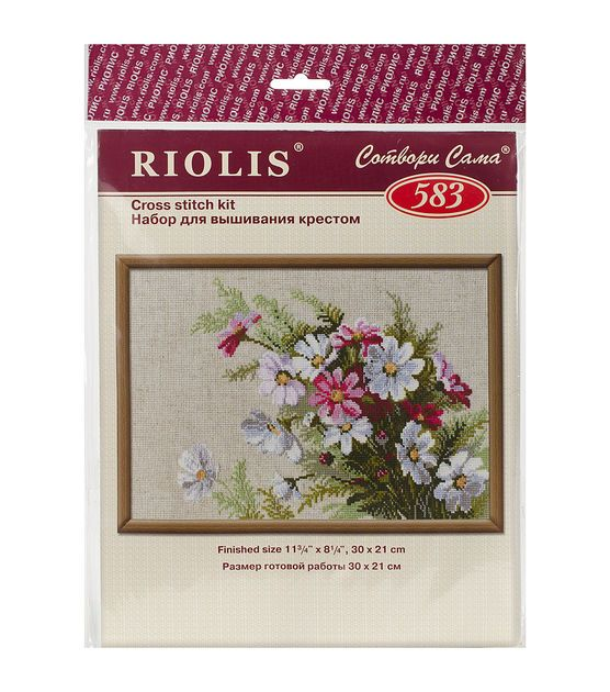 "Cosmos Counted Cross Stitch Kit-11.75""X8.25"" 15 Count"