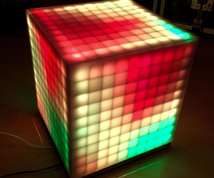 A while ago I build a 10x10 LED-Coffetable with some of these WS2812 LEDs, but even if it is possible to play the old-school game Snake with a smartphone connected to it, I want something more special. So I decided to put a few more leds to it, arranged as a cube in order to get more possibilities creating animations as well as games and here we are: the RGB-Brick.I would like to thank the whole team of LED-STUDIEN who funded that project, but specially Dennis Jackstien as my contact…