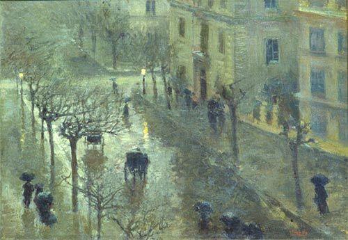 """Attilio Pratella (Italian, 1856-1949) - """"Tempo piovoso"""" (Rainy day) - Oil on canvas - Galleria Ricci Oddi, Piacenza (Italy)"""