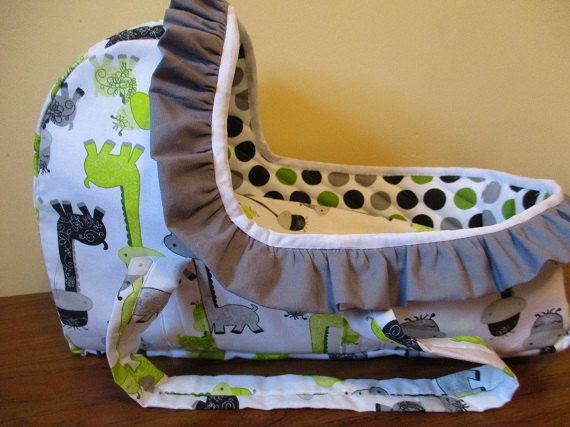 Moses Basket Bassinet Carrier Doll  Bed Bitty by SewWeeBoutique