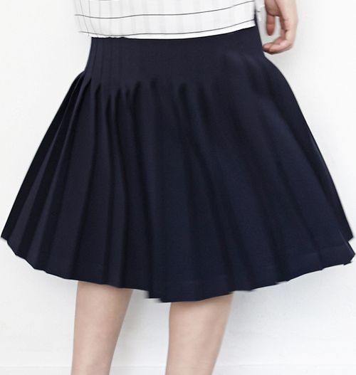 blackfit navy blue pleated skirt s fashion
