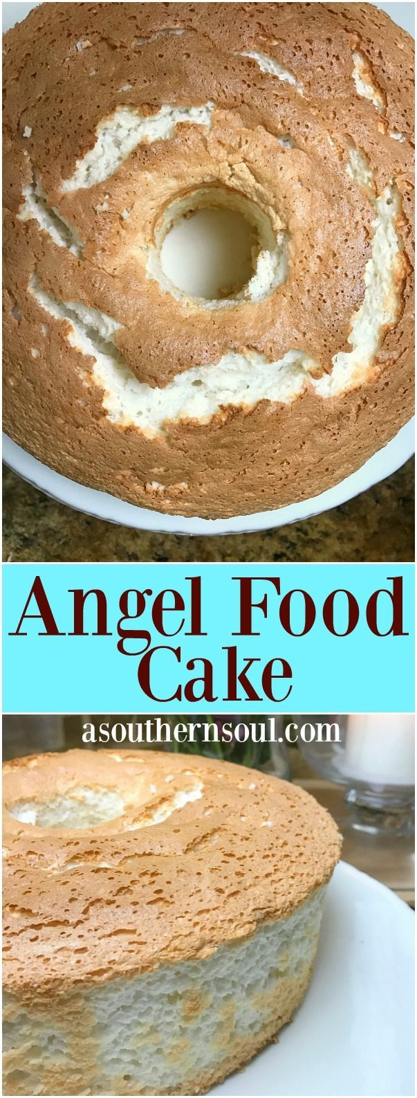 Light, fluffy angel food cake is a family favorite that's easy to make.