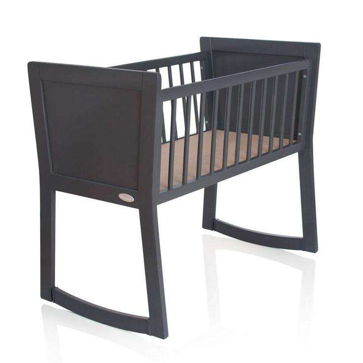 Baby Sleeping Crib Wooden Nursery Grey Children Infant Toddler Pull Turn Curved #BabySleepingCrib #Crib