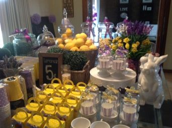 Purple and yellow birthday party