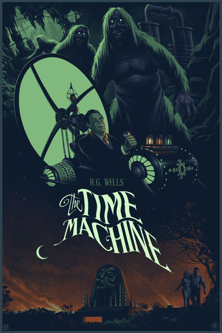 The Time Machine Movie Poster by Julien Lois
