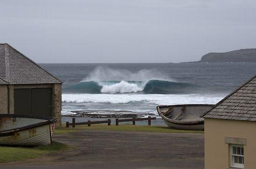 Pumping surf on Norfolk Island