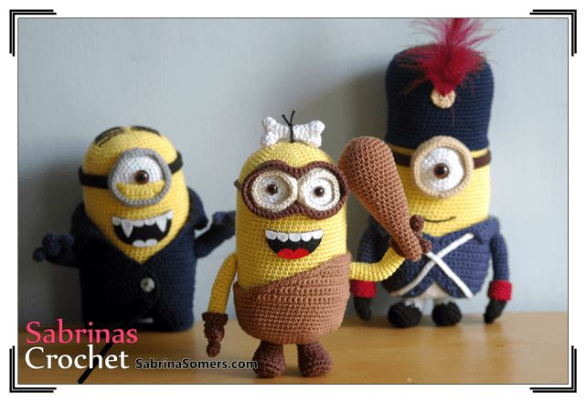 Minion Caveman - The Minions - Crochet Pattern - Amigurumi