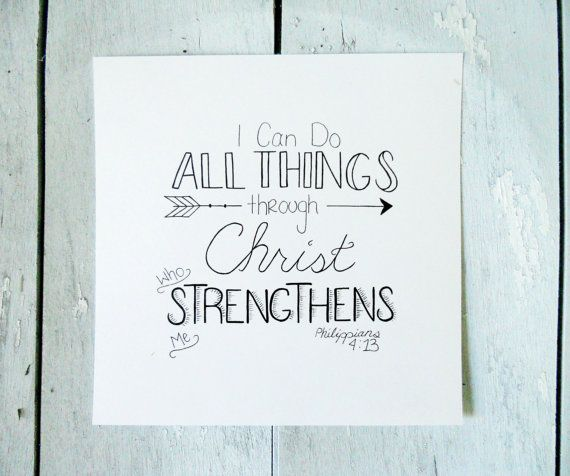 philippians 413 bible verse hand lettering by With hand lettering bible