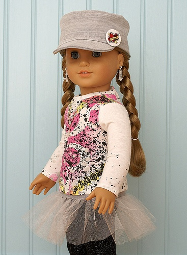 American Girl Doll Clothes-Splatter Tee Set
