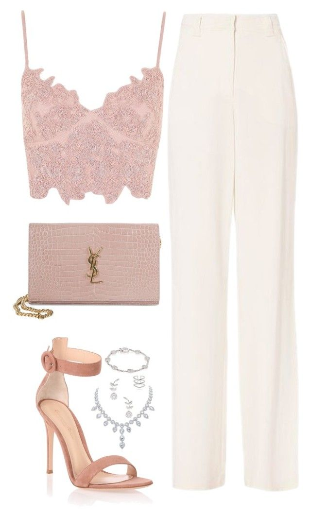 """Classy evening look"" by bellaxoxx on Polyvore featuring A.L.C., Gianvito Rossi, Topshop, Yves Saint Laurent, Plevé, Rina Limor and Astrid & Miyu"