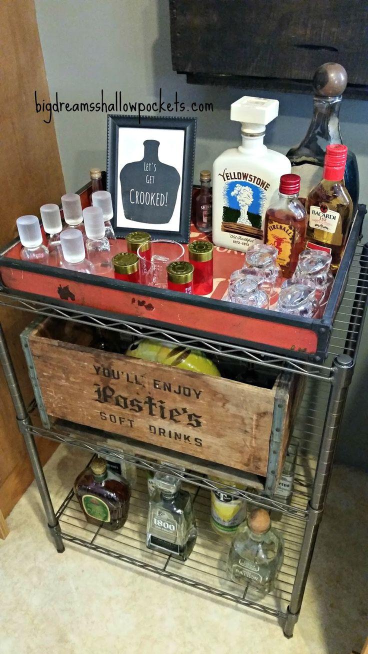 Big Dreams, Shallow Pockets: DIY Industrial Bar Cart