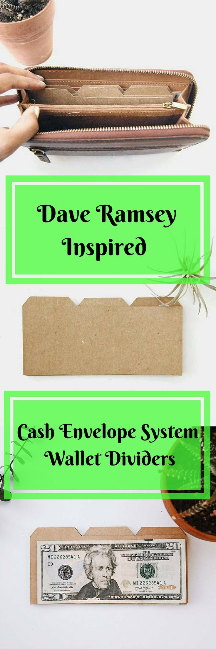 Are you using the cash envelope budgeting system but have trouble keeping your cash separated by category? These wallet Dividers are the perfect solution! #daveramsey #cashenvelopesystem #budgeting #frugalliving #moneysense #organization #finance #affiliate