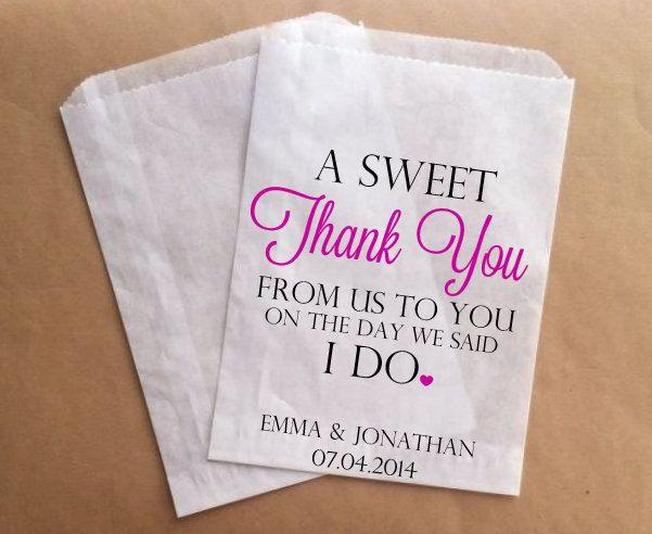 Thank You Wedding Favors Bags Custom Candy Buffet Bags Wedding Guest