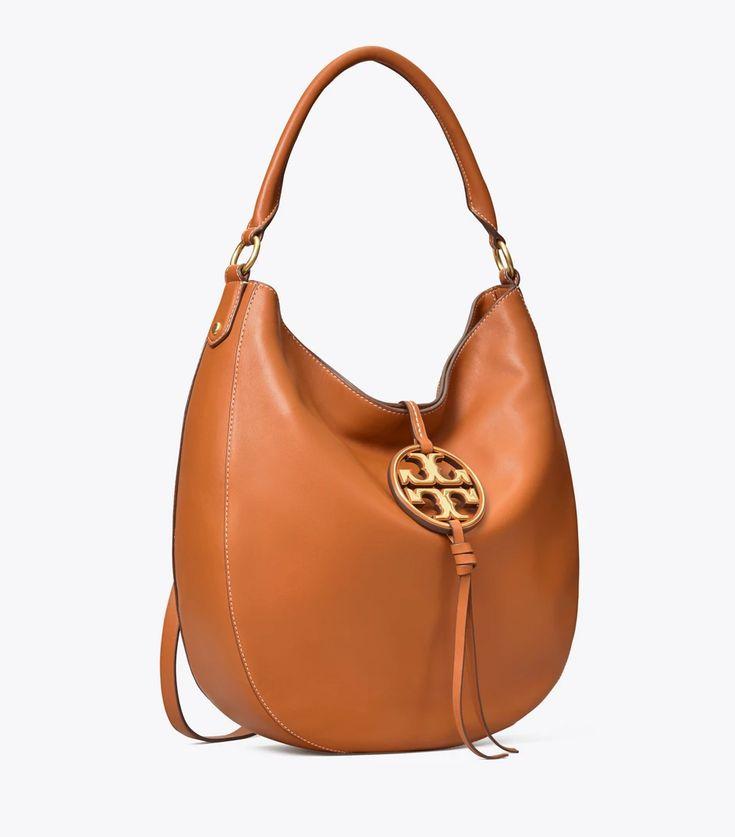 Tory Burch Miller Metal-logo Slouchy Hobo: Women's Handbags  | Tory Burch