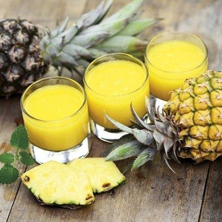 Succo d'ananas e mela