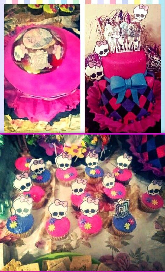 Torta ponquesitos de monster high