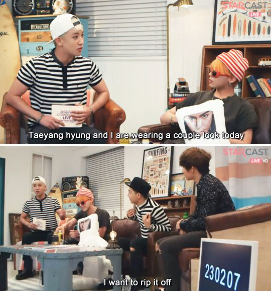 Taeyang teasing the maknae AGAIN. It never gets old XD