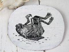 The Unfortunate Frog Ceramic Hanging Plaque