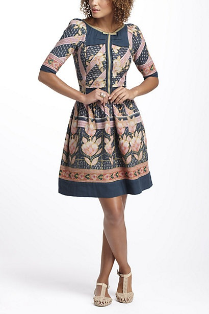 Vanga Vintage Kantha Dress - Anthropologie.com