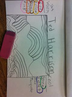ChumleyScobey Art Room: 3rd Grade: Ted Harrison Landscape with Chalk Paste...
