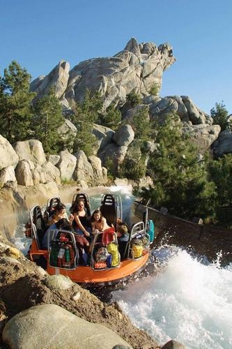 Grizzly River Run is a six-minute white-water rafting ride as if the rider is in the foothills of the Sierra Nevada mountains at Disney California Adventure park at Disneyland Resort in Anaheim, California.