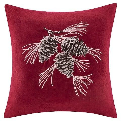 Red/Brown Throw Pillow