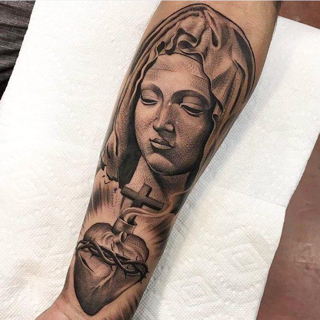 Best 25+ Virgin Mary Tattoos Ideas On Pinterest