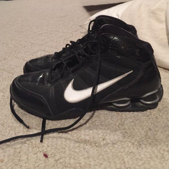 Nike basketball shoes Black Nike basketball shoes worn only inside for 1 season. Great shape. Nike Shoes