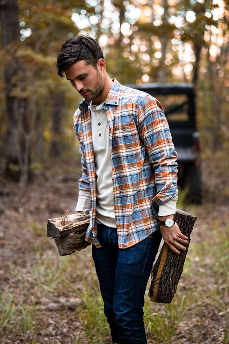 Cute Flannel Outfits, Flannel Shirt Outfit, Flannel Shirts, Flannels, Country Style Outfits, Country Fashion, Herren Outfit, Stylish Mens Outfits, Mens Fall