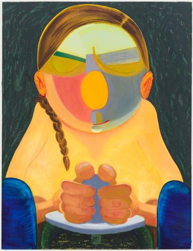 Nicole Eisenman     Northern California Potter Woman, 2015     Oil on canvas     56 x 43 inches