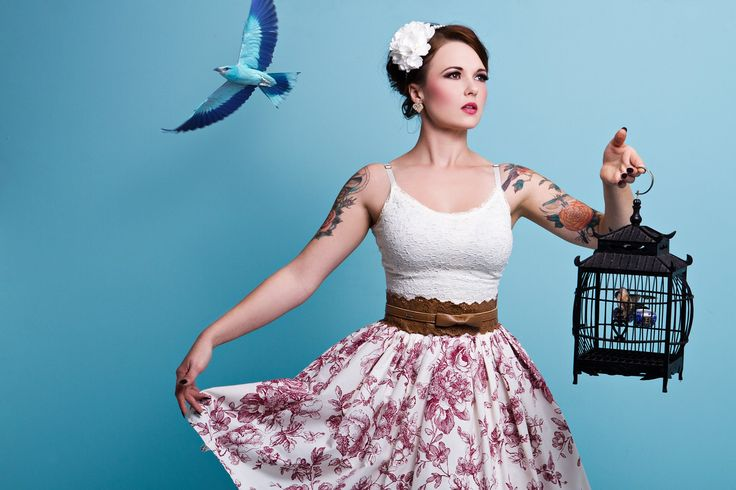 This creative shot features the beautiful model, Miss Aurora Chaos. The shoot was inspired by the pin-up era.