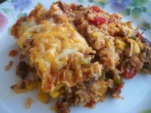 Spanish Rice A Roni Casserole