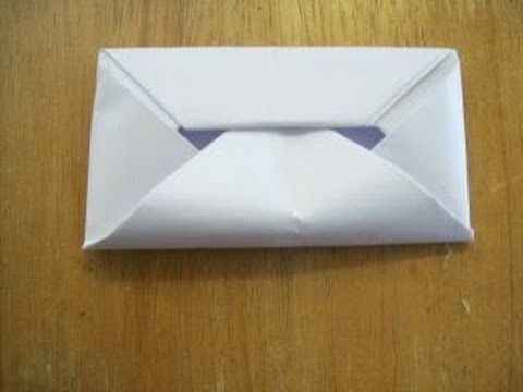How To Make An Envelope Without Glue Or Tape (HD) - YouTube