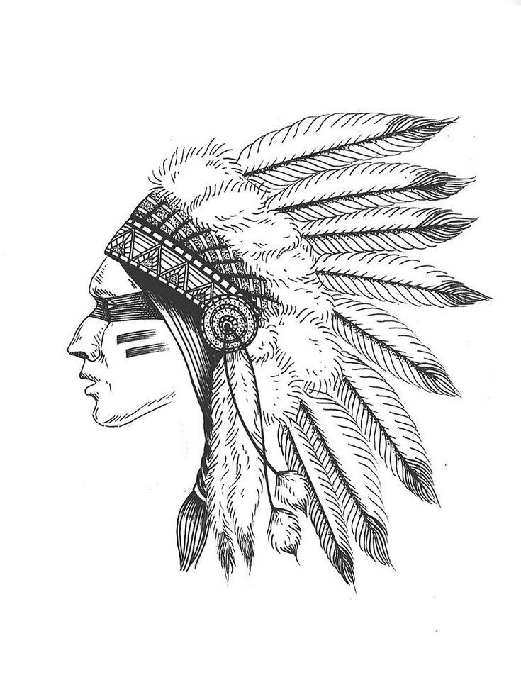 indian headdress art - Google Search