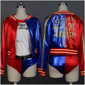 Batman COSplay Costume Suicide Squad Harley Quinn Dress Uniform Halloween Suit