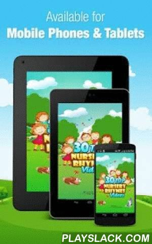 30 Top Nursery Rhymes Videos  Android App - playslack.com , 30 Top Nursery Rhymes Videos by WowKidz is a fabulous collection of popular classics, designed especially for toddlers, preschoolers and kids of all agesFirst 5 Rhymes are FREE, Just Hit and Play instantly!!About app?❂30 popular classic Rhymes.❂Fantastic Music and Sound❂Easy and Smooth Navigation❂Beautifully animated and videos on Single tap❂Rhymes created by International Musician❂Sung by Choir KidsWhy will toddlers/kids and…
