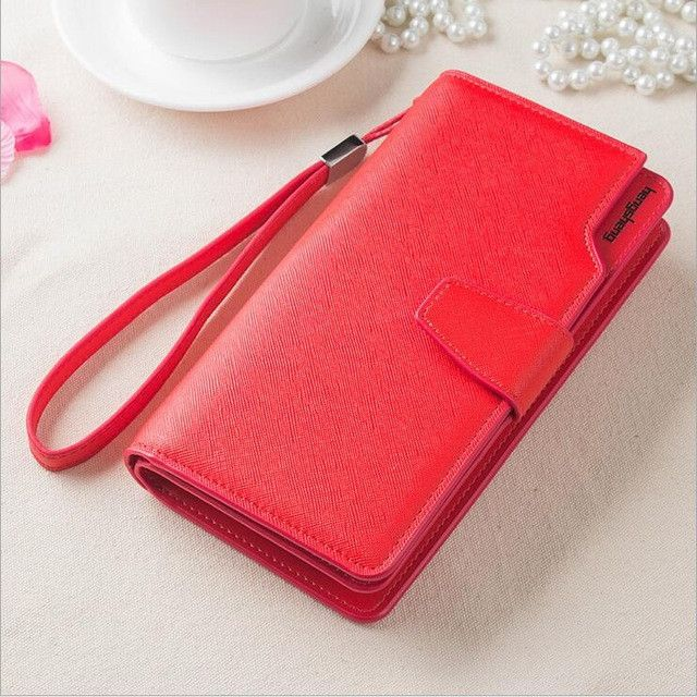 Free shipping new fashion women wallet leather brand wallets women wholesale lady purse High capacity clutch bag for women gift