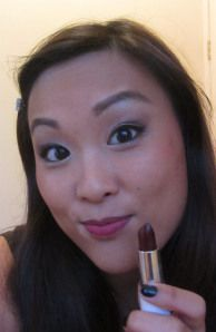 Dark plum lips using MUA and elf lipsticks