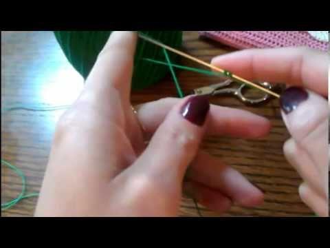 Frivolite con aguja paso a paso 1 leccion (+lista de reproducción)