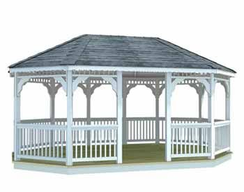 12 free gazebo plans vinyl single roof 8 sided oval for 8 sided gazebo plans