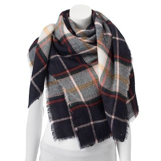 Apt 9® Pop Color Checker Plaid Square Blanket Scarf any kind just earth tone colors
