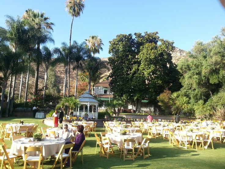 Wedding Reception On The Garden Patio. San Diego Weddings.