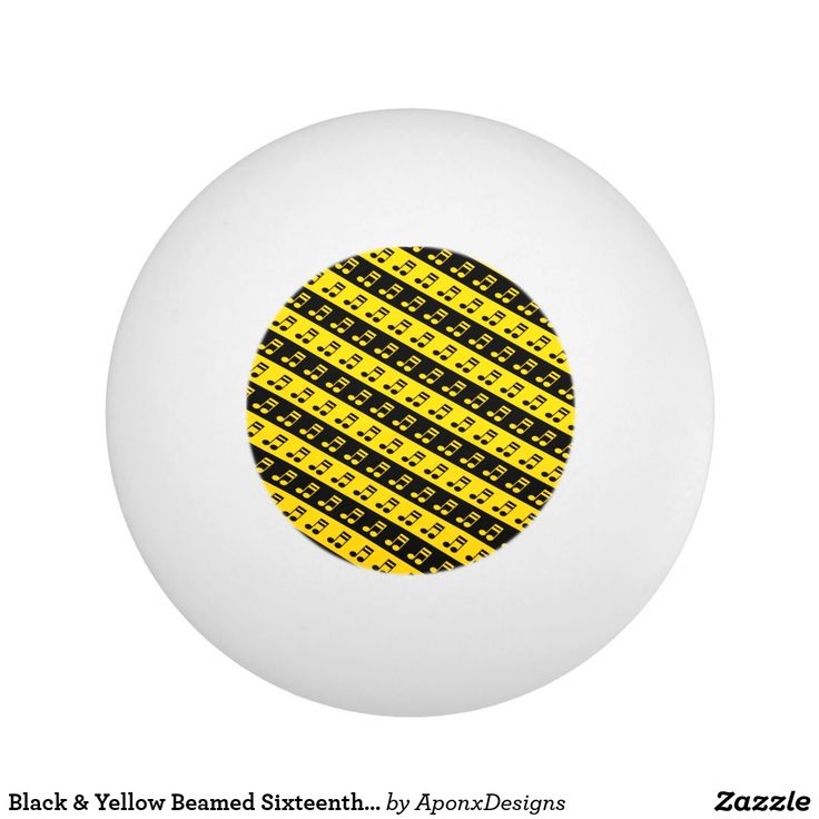 Black & Yellow Beamed Sixteenth Notes Pattern