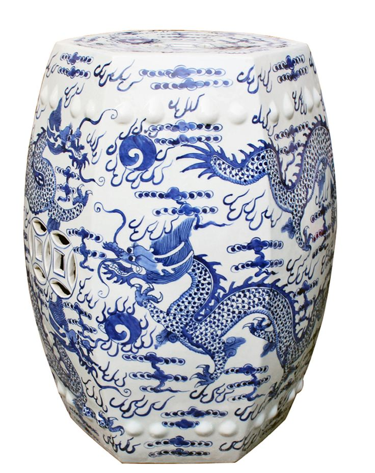 Very pretty blue and white hex fire ball dragon garden stool. Free shipping!  sc 1 st  Pinterest & 360 best Ceramic Garden Stools images on Pinterest | Ceramic ... islam-shia.org