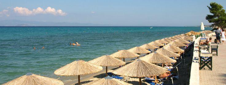 Hanioti beach op Chalkidiki