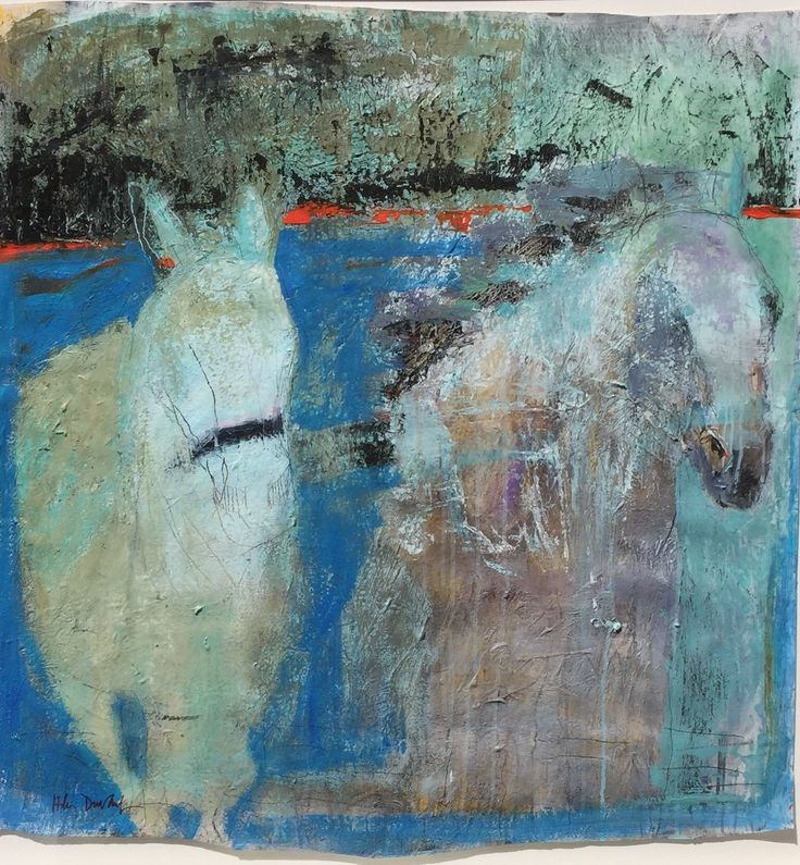 Helen Durant: Turquoise Dreams, mixed media on paper, 2016; 41 x 40 inches