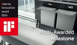 Milestone #washbasin with a monolithic pedestal topped by a horizontal plane wins the Interior Innovation Award – Selection 2014