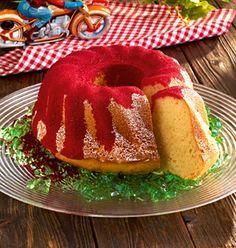 Ein witziger Kuchen mit Götterspeise für Kinder und den Geburtstag