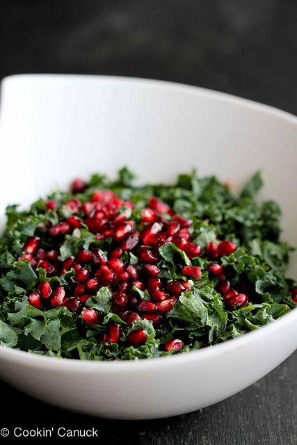 Chopped Kale Salad Recipe with Pomegranate & Avocado